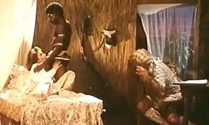 African tribesman copulates white girl