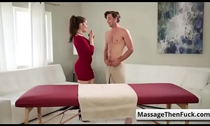 Castle nearby Massage Grille - Startling Holiday Triple prevalent Kimber Woods coupled respecting Chloe Scott part-01