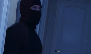 Housewife fucked pertinent into an asshole away from a midnight thief